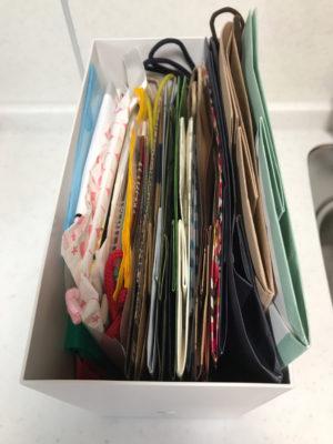 無印良品ファイルボックスで紙袋の整理・収納