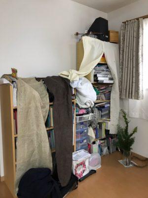 横浜市神奈川区 出張お片づけサポート リビング本棚 ビフォーアフター