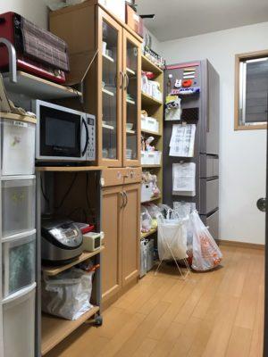 横浜市神奈川区 出張お片づけサポート キッチン食品庫 ビフォーアフター