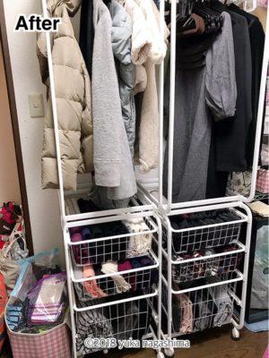 横浜市神奈川区 出張お片付けサポート クローゼット 洋服の整理 ビフォーアフター