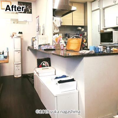 横浜市神奈川区 出張お片付けサポート リビングの整理整頓 ビフォーアフター