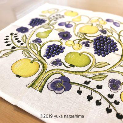 KUOVI クオヴィ オーチャードOrchard /パラティッシ柄 テーブルナプキン