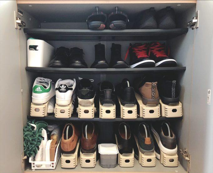 せまい玄関に大量の靴!わが家の下駄箱の収納