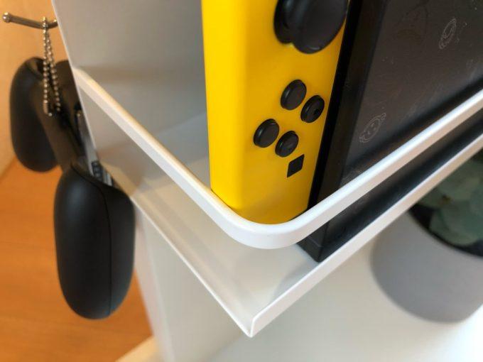 山崎実業でスイッチ(NintendoSwitch)を空中収納!Plate マグネットスパイスラック#2410