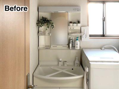建売洗面台リフォーム ピアラ×IKEAで半造作風の洗面台に!